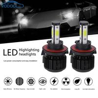 1 Pair Universal 6500K 5000LM H13 LED COB Car Auto Headlight Head Lamp Bulbs Voiture 360