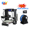 Upgradest A6 Big Size High Precision Reprap Prusa i3 DIY 3D Printer Kit with Aluminium Hotbed & Filament & LCD