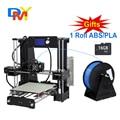 Upgradest a6 tamaño grande de alta precisión diy 3d kit de impresora reprap prusa i3 con aluminio semillero y filamento y lcd