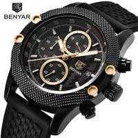 BENYAR Luxury Brand Mens Watches Reloj Hombre Sport Chronograph Fashion Waterproof Quartz Watch Clock Men Relogio