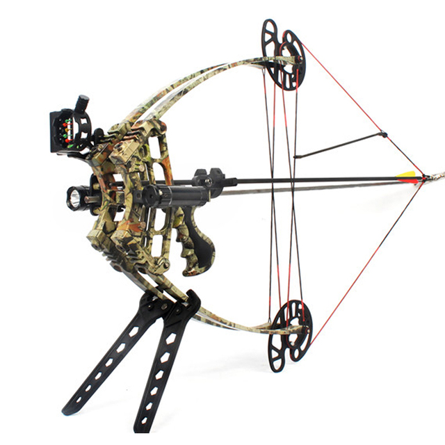 50lbs Compound Bow Archery Hunting Triangle Bow for Hunting Shooting Let-off 75-80% Suit For Left Hand and Right Hand Bow Arrow 4