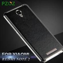 PZOZ Xiaomi Redmi Note 2 Case Leather Battery Back Cover Original Xiomi Redmi Note 2 Luxury