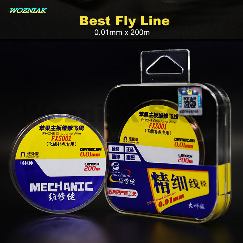 Wozniak Best Quality Mainboard Maintenance Fly Line 0.01mm x 200m For iPhone Fingerprint Repair Mending Flight Line flyline tool|line|line fly|  - title=