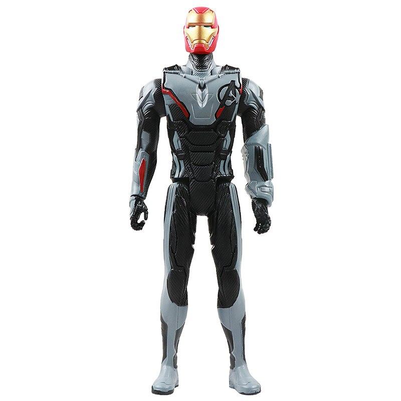 30 см Marvel Мстители эндшпиль танос Человек-паук Халк Железный человек Капитан Америка Тор Росомаха Веном Фигурка Игрушки Кукла Детская - Цвет: New iron no box