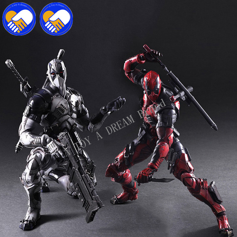 2018 NEW PLAY ARTS 26cm Marvels X-men Deadpool Super Heroes Action Figure Model Toys Red & Gray 2 Choice For Collection Gifts 26cm x men single toys deadpool figure play arts dead pool collection model doll toy christmas gifts super heroes action figures