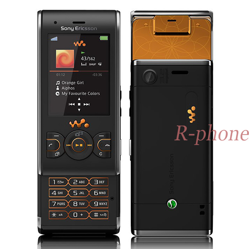 Original Unlocked W595 Mobile Phone 3.15MP Bluetooth MP3 MP4 Player Black W595 Cellphone feature phone