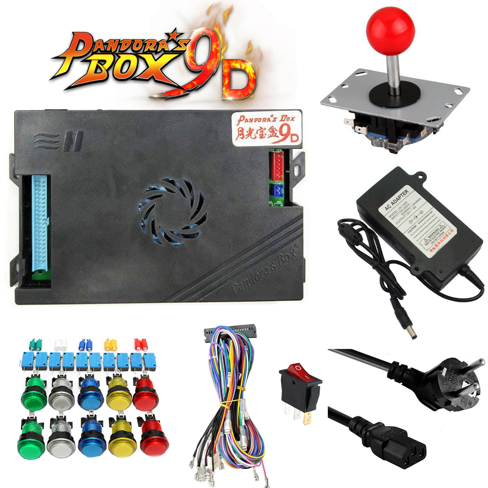 Купить с кэшбэком 1 kit New amusement multi video games 2222 in 1 PCB game board kits Just Another Pandoras Box 9D CGA & VGA Arcade Game Cabinet