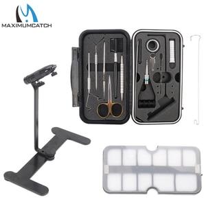 Image 1 - Maximumcatch Fliegen Binden Werkzeuge Set Schraubstock Reisenden Fly Fishing Tackle Kit