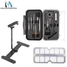 Maximumcatch Kit de matériel de pêche à la mouche, outils darrimage, étau voyageur