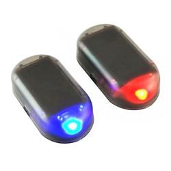 Simulate Solar Car Anti-theft Alarm LED Light Imitation Security System Warning Theft Flash Blinking Lamp for Ford Audi