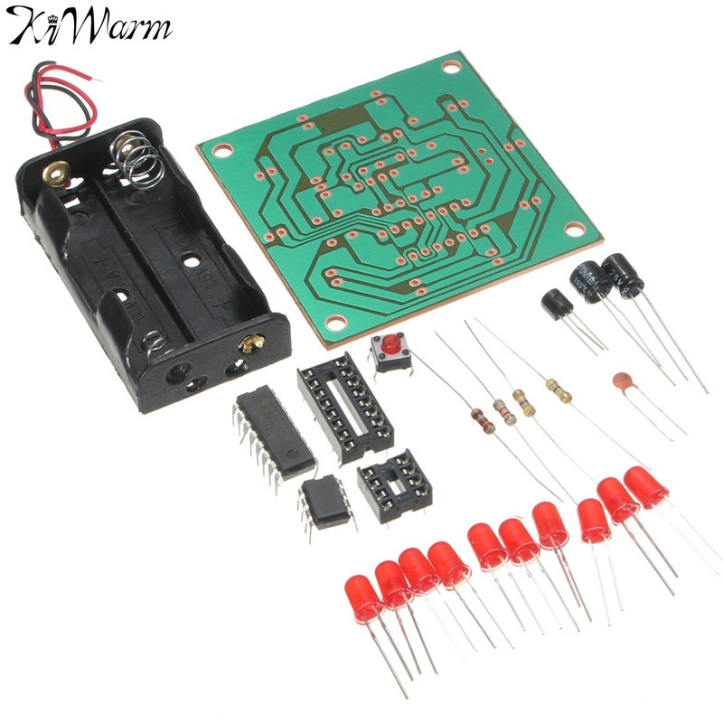KiWarm Electronic DIY LED Flash Kit Manual Assembly DIY Technology Material Package Children Kids Hobby Toys DIY Crafts Supply