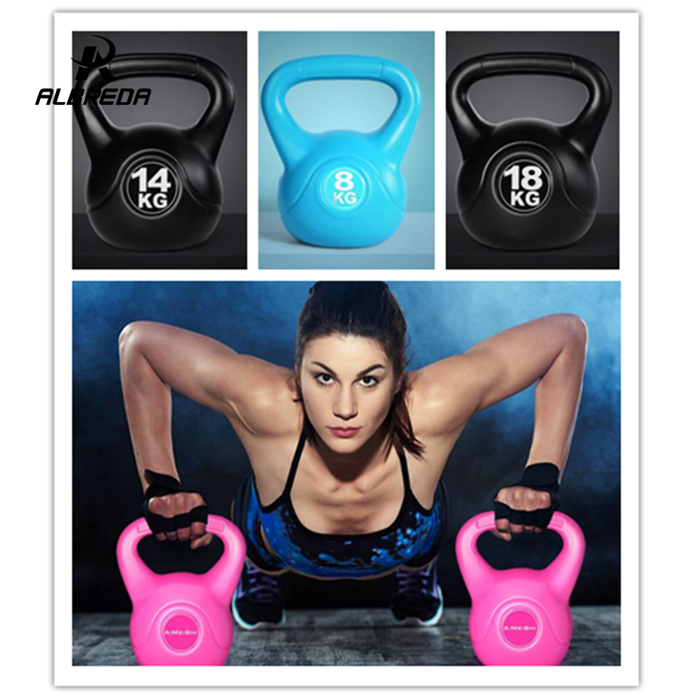 ALBREDA 1/PCS 2-20KG colorfull Men&women fitness equipment Plastic Dip in Dumbbell Toned Squats Workout ball Strength Training albreda new dip bar by ultimate body press indoor fitness equipment multifunctional dip exercise lose weight split parallel bars