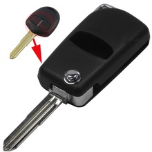 replacement Style 2button modified flip folding remote key case shell for Mitsubishi Outlander with Left blade