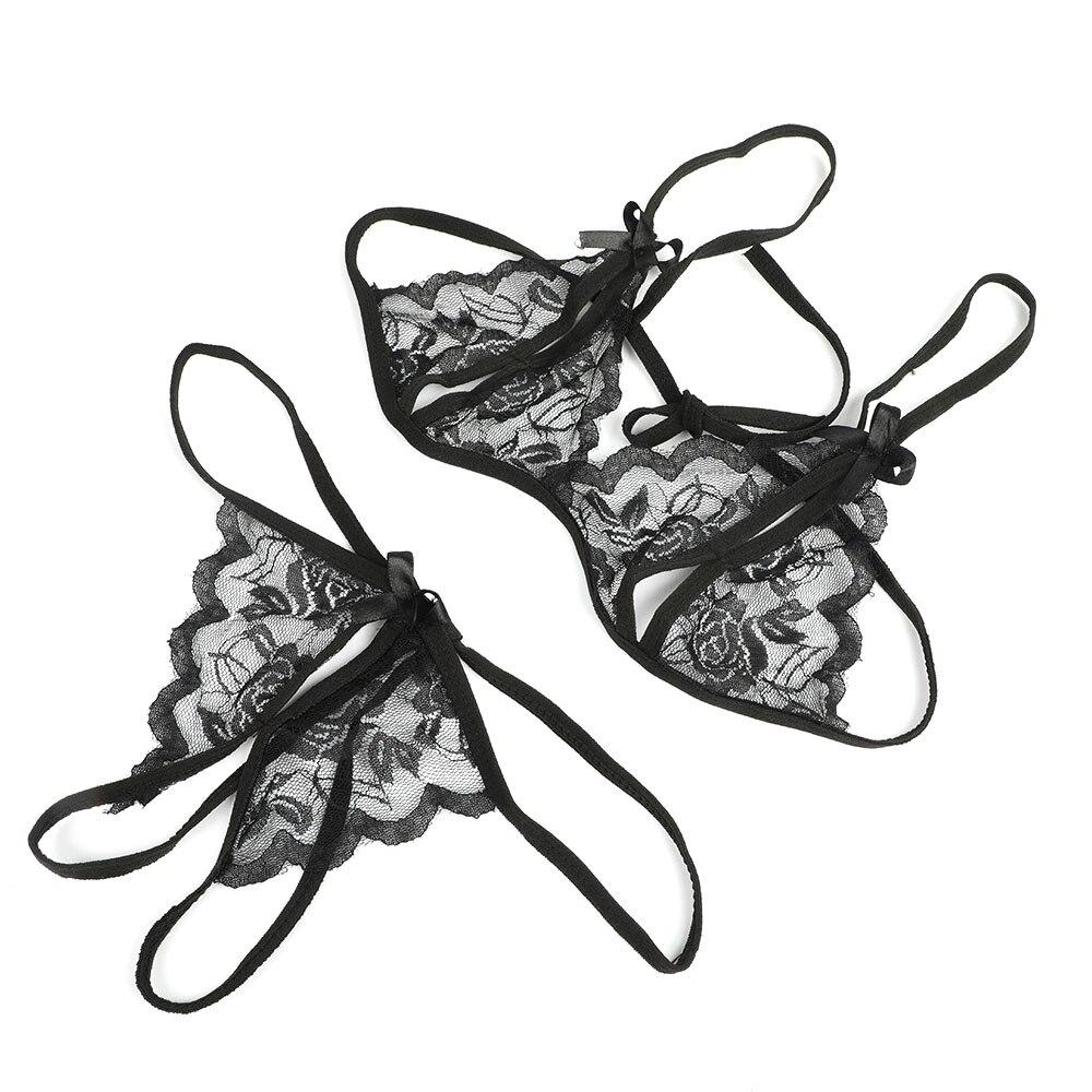 Women's Pajamas Sexy Lingerie Hot Erotic Lingerie Transparent Open Milk Lace Sexy Underwear Bra Pants Exotic Apparel