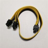10pcs/lot Module 6Pin to Dual PCI E PCIe 8Pin ( 6+2Pin ) Power Ribbon Cable 50cm for COOLER MASTER Dragon Shadow 1200W PSU Power