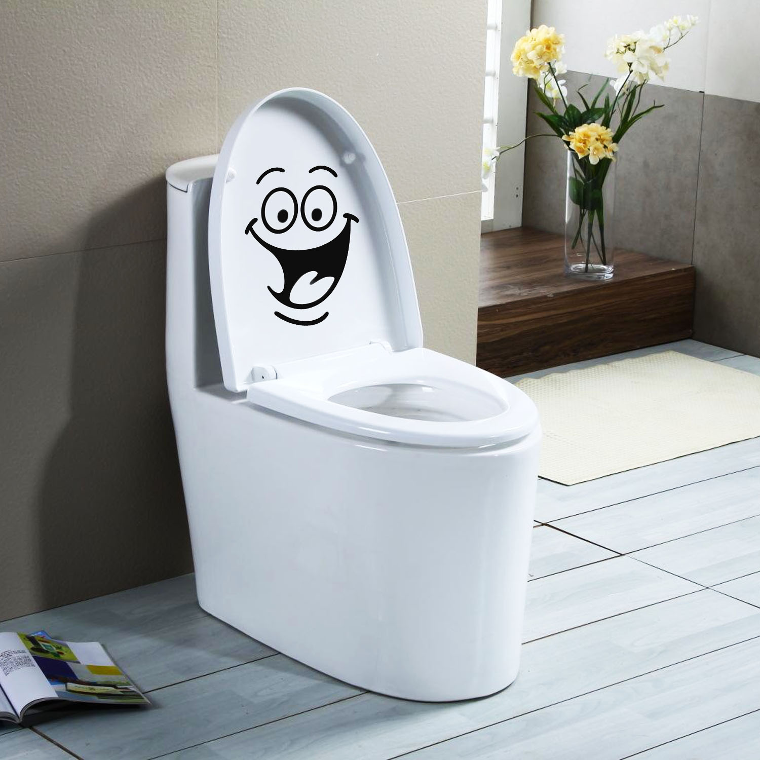 Online Shop NC Big Mouth Smile Waterproof Decal Sticker for Toilet ...