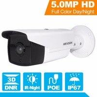 В наличии Hikvision пуля Камера ds 2cd2t52 i5 5mp сети пуля видеонаблюдения Камера PoE с 50 м ИК P2P cloude IP камера