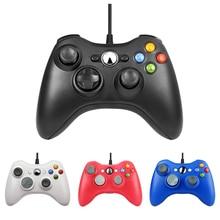 ذراع تحكّم سلكيّة USB لـ Xbox 360 ملحقات ألعاب غمبد Joypad عصا تحكم لجهاز Microsoft XBOX360 وحدة تحكم للهاتف المحمول