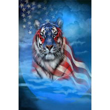 Tiger flag diamond Embroidery diy painting mosaic diamant 3d cross stitch picture H606