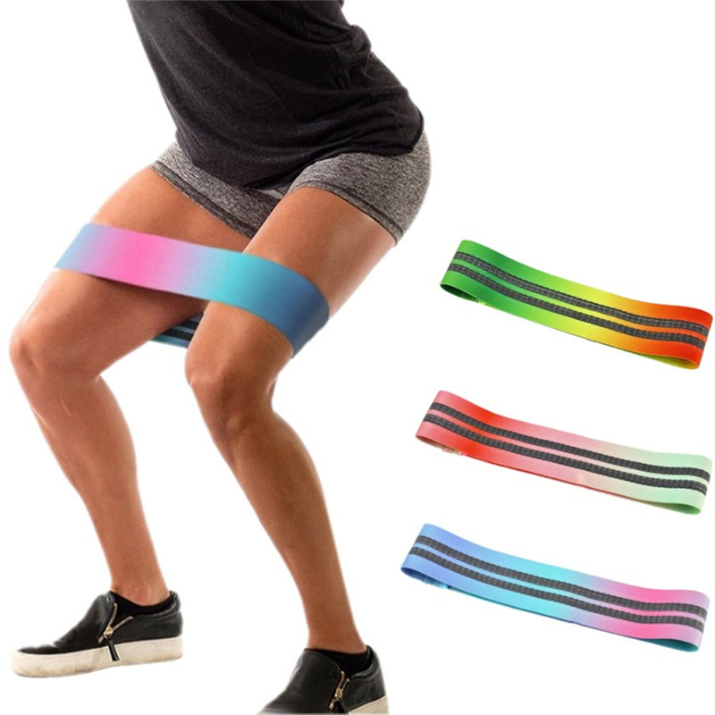 Sports & Entertainment Genteel New Multicolor Hip Resistance Bands Latex Slip Cotton Elastic Durable Bands For Thigh Fitness Workout Yoga Gradient Loop#294664 Spare No Cost At Any Cost