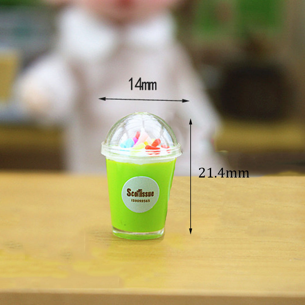 1//12 Miniature Japanese Matcha Beverage Cup Dollhouse Toy Decor Accessories