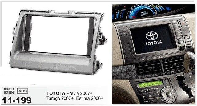 ФОТО 11-199 Car Radio Frame Fascia for TOYOTA Previa, Tarago 2007+; Estima 2006+ Stereo Dash Facia Trim Surround CD Installation Kit