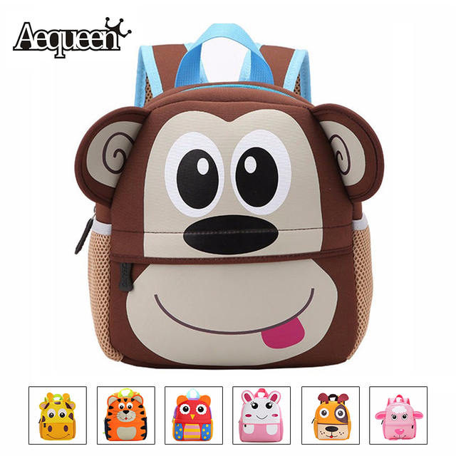 fc16bb3d8a AEQUEEN Cute Kid Toddler Animal Backpack Infant Schoolbags Bag Small Mini  3D Dog Anime Children Baby Girls Boys School Backpacks