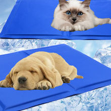 Blue Ice Cool Mat Pet Dog Puppy Cat Cooling Pad Cushion Summer Sleeping Bed Self