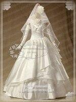 [Настройка] аниме атака на Титанов Микаса Акерман Косплэй костюм иллюстрации свадебное платье цветок пробудить Хеллоуин костюм для