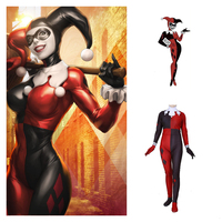 Anime Movie Batman Harley Quinn Cosplay Costumes Women Girls Zentai Halloween Jumpsuits Bodysuits New 2019 Support Custom Size