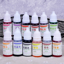Free shipping baking ingredients waterbased food coloring cream decorating rainbow fondant cakes macaron coloring10ml