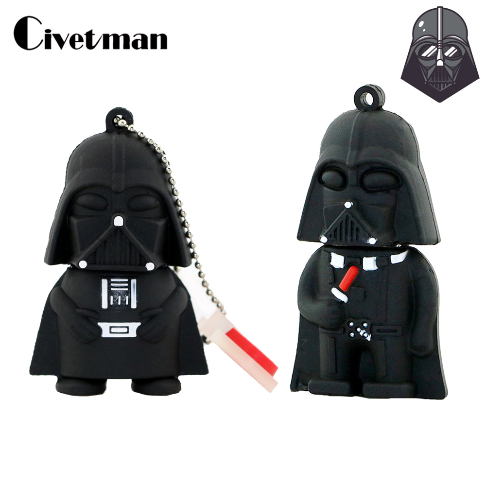 128GB Pen Drive Cartoon Star Wars Usb Flash Drive Darth Vader Memoria Stick 64GB Pendrive 32GB 16GB 8GB 4GB External Storage