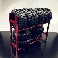 RC Drift Xe 1/10 Vành Bánh Xe Kệ & Drift Lốp Lốp Kệ Crawler RC4WD SCX10 ĐỎ Miễn Phí Vận Chuyển