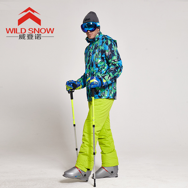 Профессиональный Мужская лыжная куртка комплект водоотталкивающая ткань мужской зимний костюм теплый ветрозащитный и дышащий сноуборд ко...
