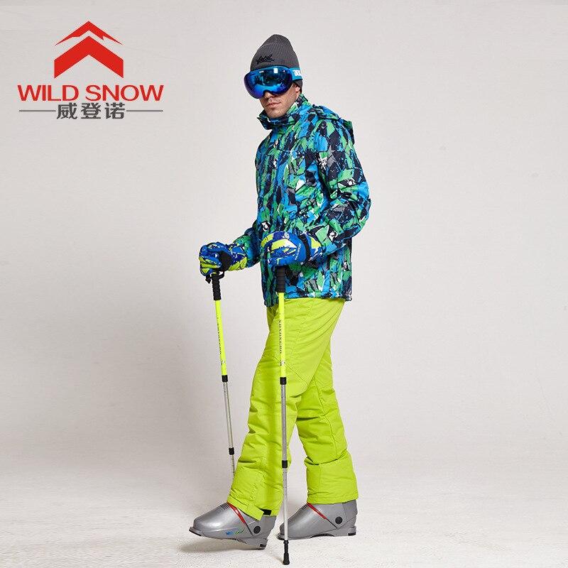 Professional mens ski jacket set water repellent fabric male winter suit warm Windproof&breathable snowboard clothes suit trous