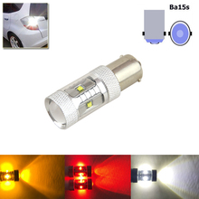 1PC White 1156 BA15S P21W S25 Led Car Lights Cree Chips Red Yellow External Lights Tail Brake Reverse Turn Signal Lamp Bulbs