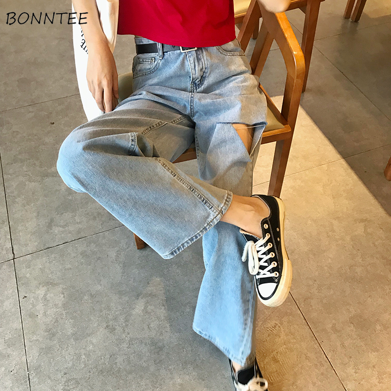 Jeans Women Spring Summer Trendy Simple Korean Style All-match Ulzzang High Quality Soft Streetwear Hole Womens Trousers Chic