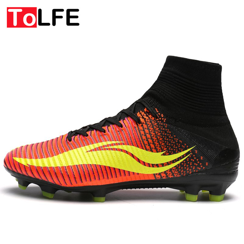 Top Quality High Ankle Football Boots Men Pressional FG AG ...
