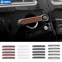 MOPAI ABS Car Exterior Accessories Door Handle Decoration Cover Trim Stickers For Jeep Wrangler 2007 Up Car Styling