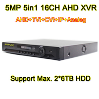 AHWVSE 16 Channel 5MP 1080P AHD DVR 5in1 AVR XVR Video Recorder NVR 16CH TVI CVI IP Analog DVR Free Shipping