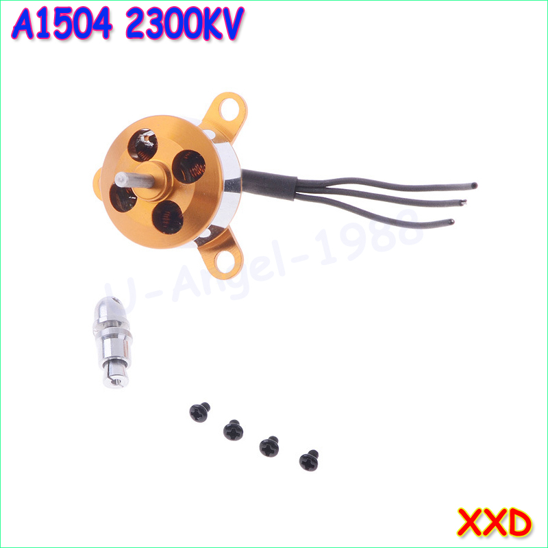 1pcs A1504 2300KV Brushless Outrunner Motor + Propeller Adapter For Mini RC Aircraft Fixed-wing UFO rc aluminum bullet propeller adapter for small brushless motor propeller