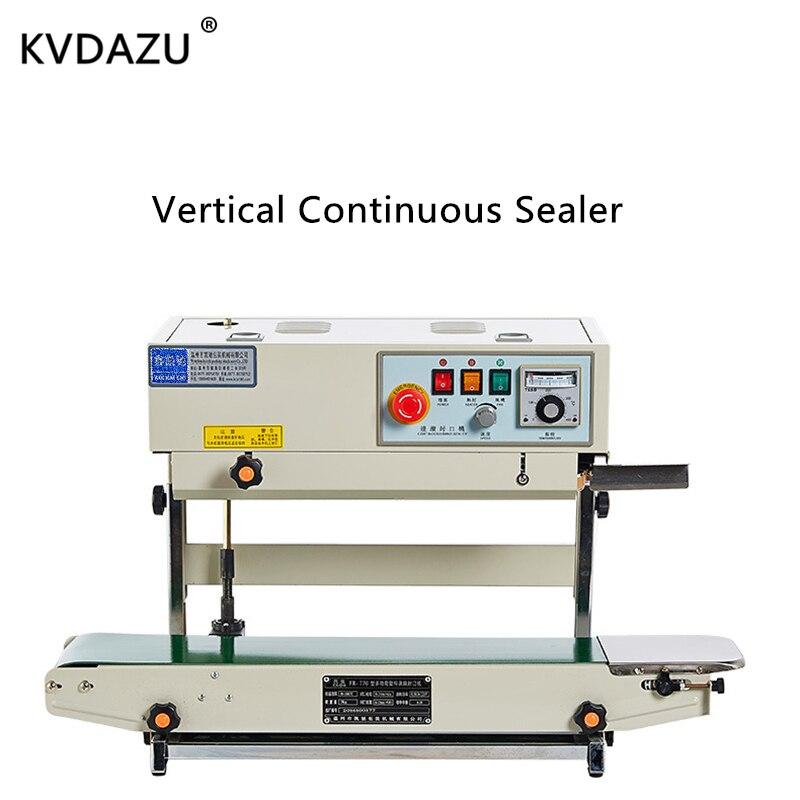 Machine à sceller verticale continue sacs alimentaires automatique film plastique paquet sac scellant équipement supplémentaire impression date FR770V