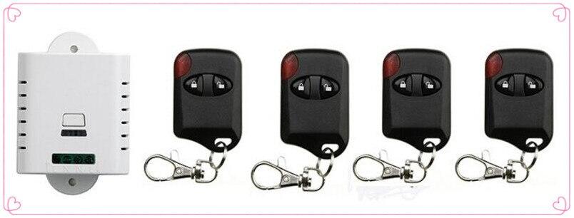 85 В 110 В 120 В 220 В 250 В 1CH беспроводной пульт дистанционного управления 1 * приемник + 4 * кошачий глаз передатчики для устройств ворота гаража