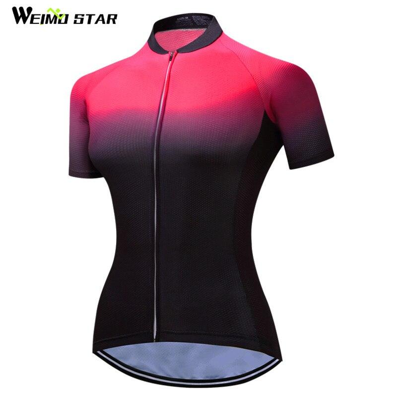 2019 Weimostar Zwart Rood MTB Fietsshirt Dames Fietskleding Ropa - Wielersport