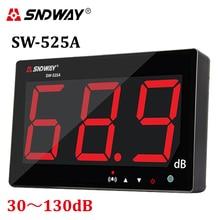 Digital sonómetro 30 ~ 130db pantalla grande Restaurante Bar Interior/oficina/casa de tipo colgante de Pared medidor de decibelios de ruido