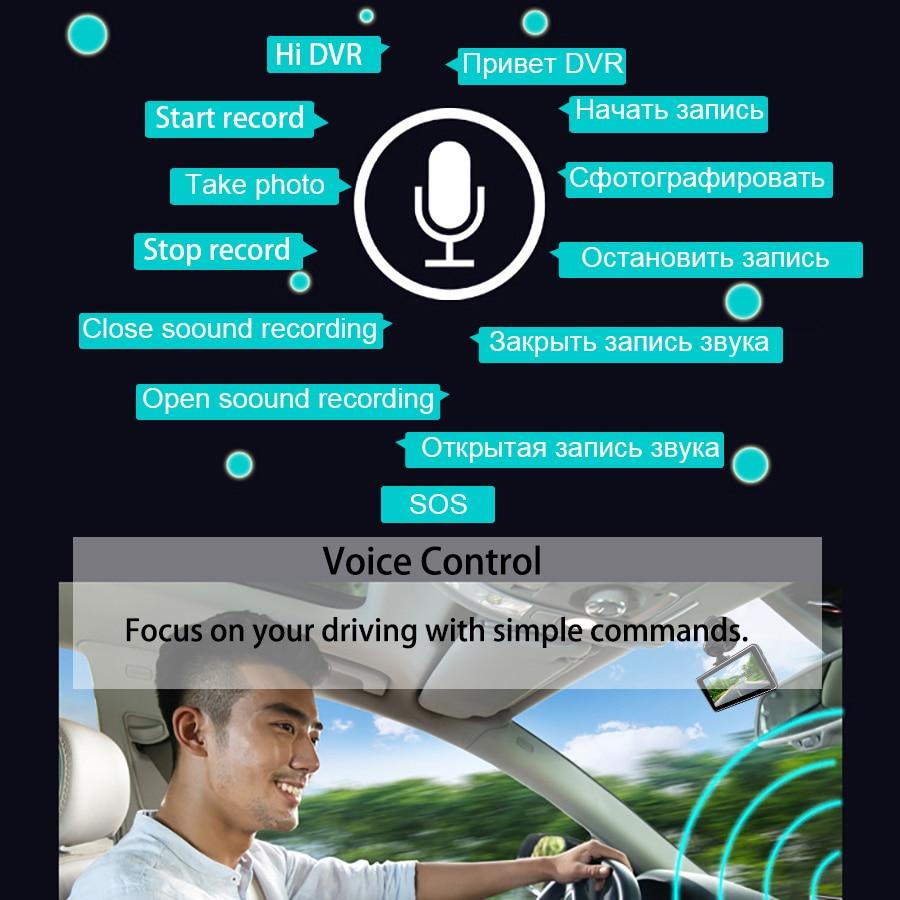 Image 5 - E ACE Mini Dash Camara Video Recorder Car Dvr Voice Contro Full HD 1296P 3.0 Inch Dashcam Auto Registrator Nigh Vision Dual Lens-in DVR/Dash Camera from Automobiles & Motorcycles