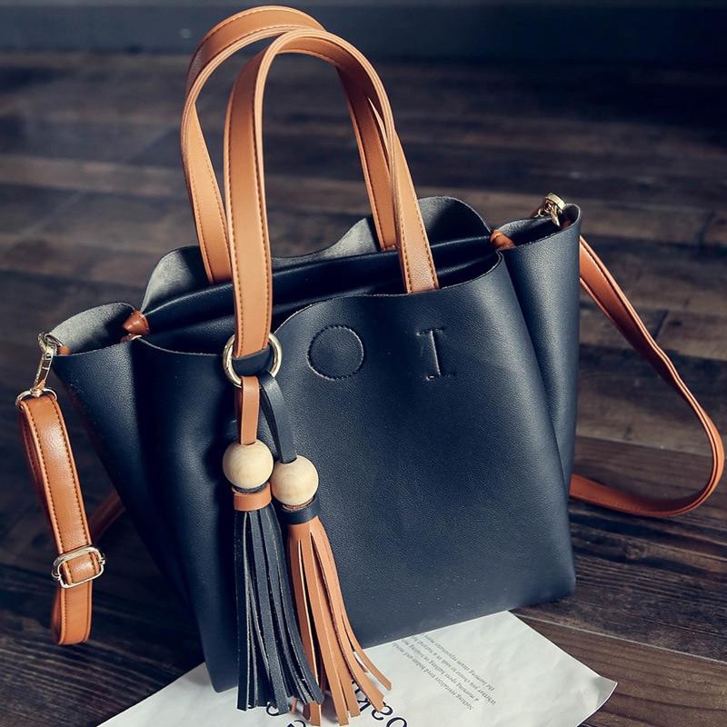 Çantalar Koreyalı Tassel Böyük Çanta Payız Yeni Qadın - Çantalar - Fotoqrafiya 3