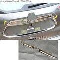 Нержавеющая Автомобильная задняя дверь бампер рамка Накладка лампа крышка багажника для Nissan X-trail xtrail T32/Rogue 2014 2015 2016