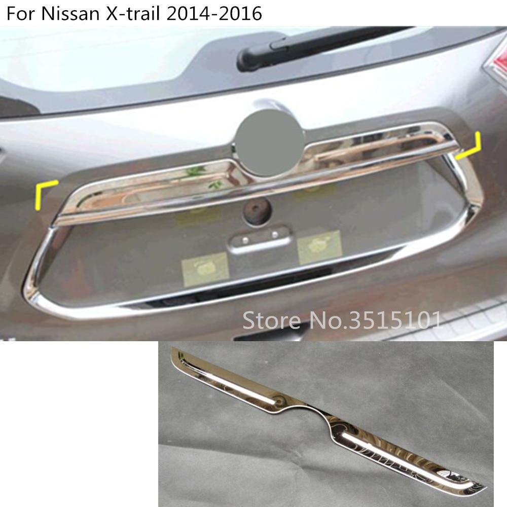 Inoxydable Voiture porte Arrière hayon pare-chocs cadre plaque garniture lampe tronc Couvercle Pour Nissan x-trail xtrail T32/ rogue 2014 2015 2016
