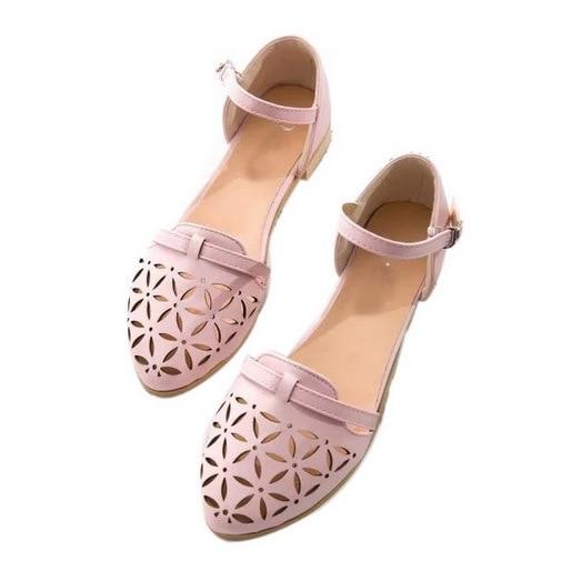 c1865cb79 Sales Women Summer Sandals 2015 Flat Sandals Solid Ladies Shoes Cutouts  Woman Sandals Cover Heel Casual Shoes Closed Toe Sandals